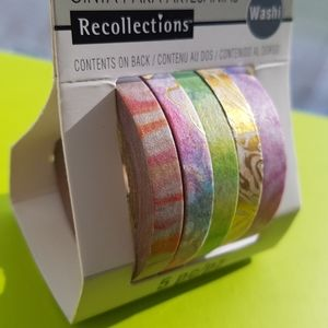 NEW 5 Pcs Recollections Washi Tape